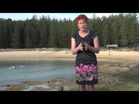 Norfolk Island Democracy? Pauline Hanson's visit 1/2