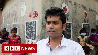 Meet the teacher who turned a street into a classroom - BBC News