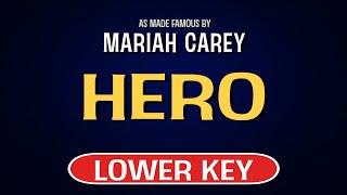 Mariah carey - hero   karaoke lower key
