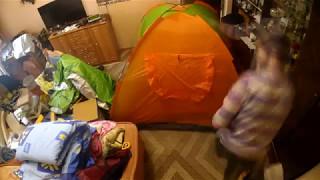 обзор и установка палатки 3 местной с тентом Mountain Outdoor SY 007