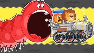 Lion Family | Journey to the Center of the Earth №53. Millipede | Cartoon for Kids
