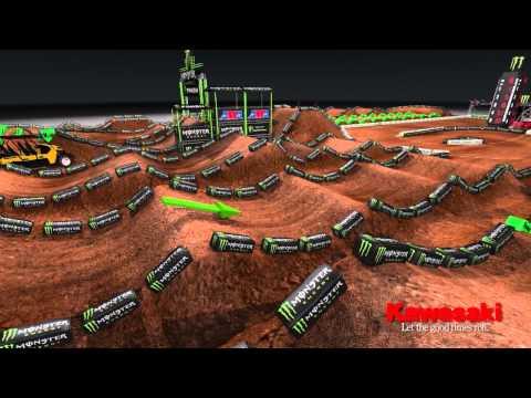 Supercross LIVE 2013 – Salt Lake City 42713 – Monster Energy Supercross Animated Track Map