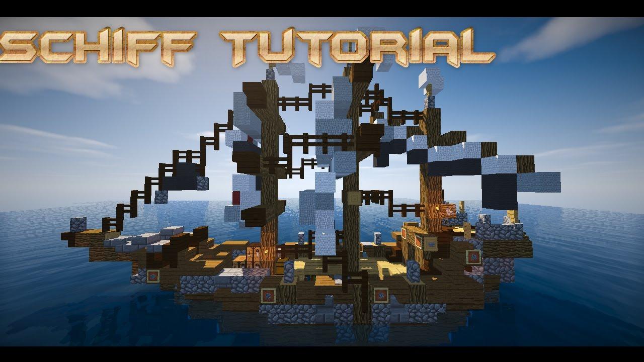 Minecraft Schiffe Bauen