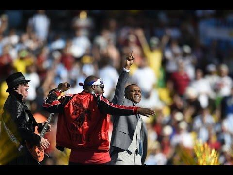 Closing ceremony world cup 2014 - Dar um Jeito (Wyclef Jean, Carlos Santana, Alexandre Pires)