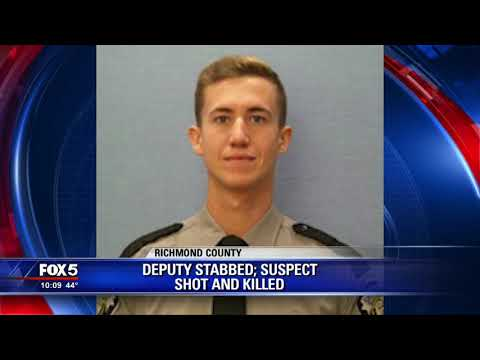 Richmond County deputy stabbed; suspect shot and killed