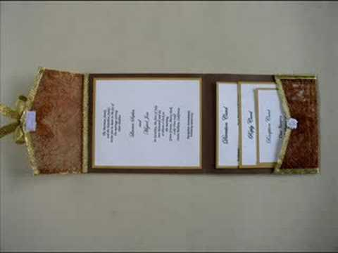Pocket Fold Wedding Invitations Youtube