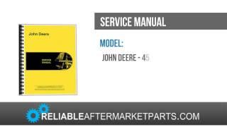 New John Deere 450B Crawler Service Manual