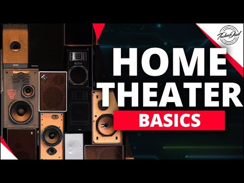 Set up home theatre speakers