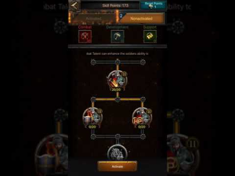 Clash Of Kings Skill Points Reccomendation