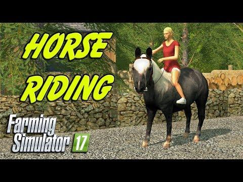 HORSE RIDING   Farming Simulator 17   Oakfield Farm - Episode 38