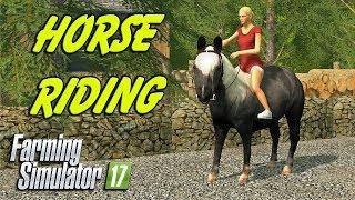 HORSE RIDING | Farming Simulator 17 | Oakfield Farm - Episode 38