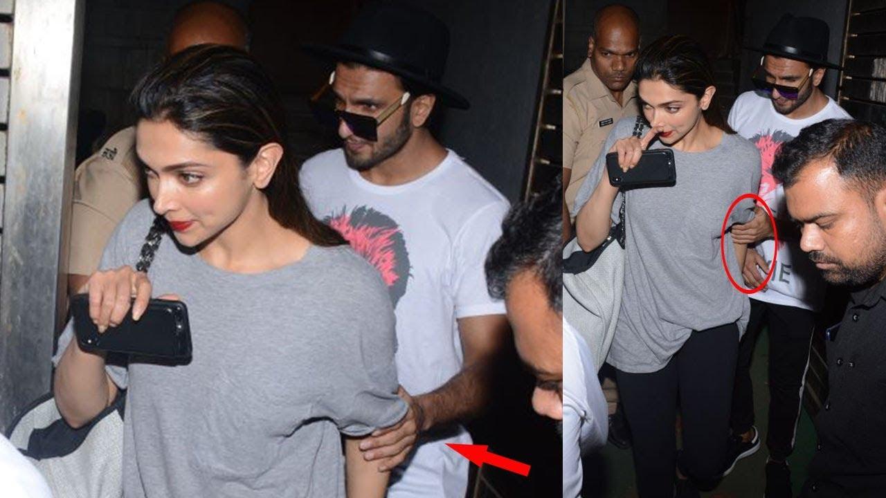 Hot Deepika Padukone Spotted With Her Boyfriend Ranveer ...