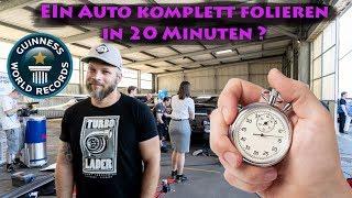 Ein ganzes Auto folieren in 20 Minuten mit Sidney Hoffmann!