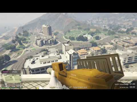 GTA V ONLINE KID TALKS TRASH AND GETS BODIED {FREEMODE TROLLING}