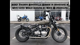 2017 Triumph Bonneville Bobber in Ironstone with Mini Apes Walk Around by Nate @ Frontline