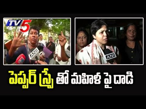 Sabarimala: Pepper Spray Attack on Woman | అయ్యప్ప దర్శనానికి వెళుతున్న మహిళపై దాడి | TV5 News