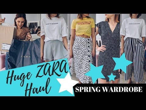 HUGE ZARA HAUL & TRY ON - Spring Wardrobe || COCOA CHELSEA