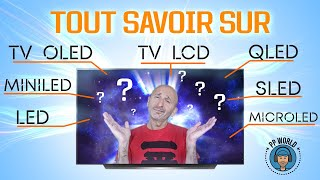 TOUT SAVOIR sur TV OLED, LCD...QLED, MiniLED, SLED, MicroLED, NanoCell !