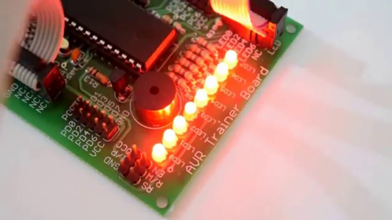Analog To Digital Converter Of Avr Atmega32 Microcontroller With Led For Example The Figure Below Shows Proteus Inbuild Display By Ablab Solutions