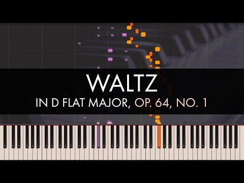 Frédéric Chopin - Waltz in D flat Major, Op. 64, No. 1 (Synthesia)