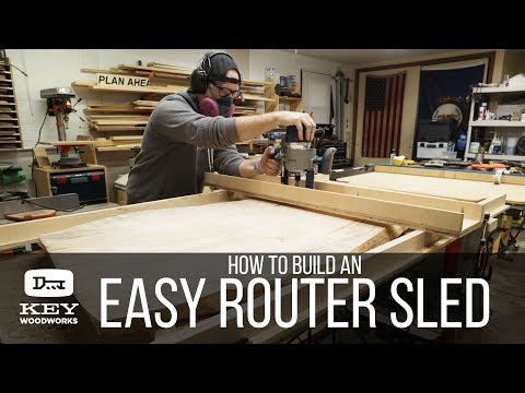 How to make a DIY Flattening Jig | Router sled