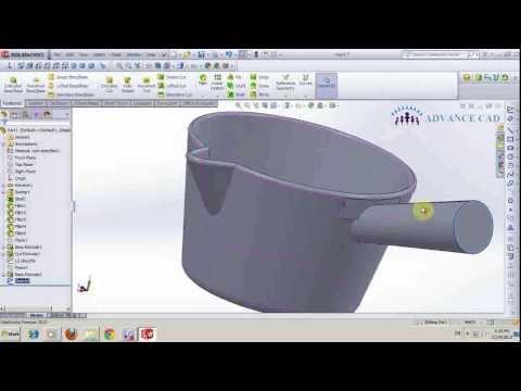 ADVANCE CAD_Hướng dẫn vẽ gáo trong solidworks 2013