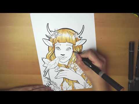 Faun Girl by Shelby Betke Art Tutorial thumbnail