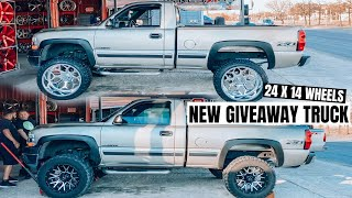 NEW GIVEAWAY TRUCK ON 24 X 14 AMERICAN FORGE WHEELS!!