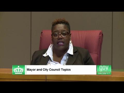 Charlotte, NC City Council Regular Meeting August 28, 2017