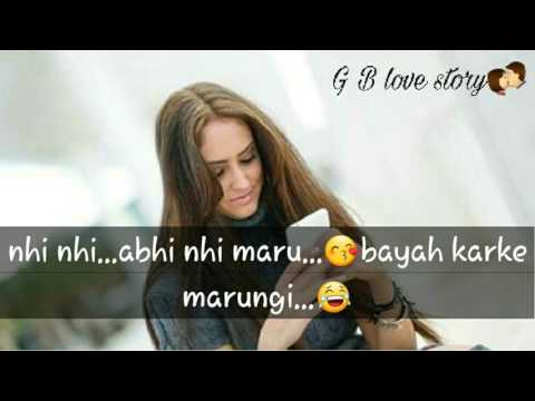 Cute couple love convo   Romantic love conversation between boy nd girl  