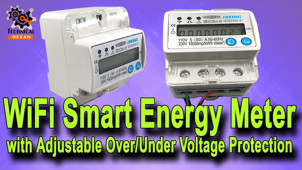 Wifi Smart Energy Meter With Adjustable Over Under Voltage Protection Unboxing Youtube