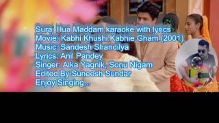suraj hua maddam karaoke song