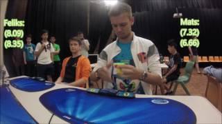Feliks Zemdegs (7.16) vs Mats Valk (7.48) - Sydney champs 3x3 final thumbnail