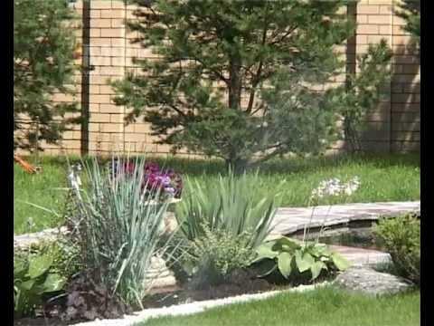 видео: Ландшафтный дизайн садового участка