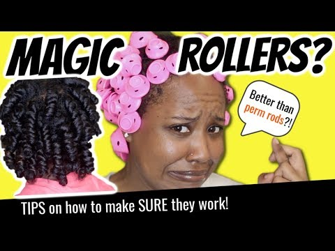 MAGIC HAIR ROLLERS On NATURAL HAIR?! How To Get These Things To WORK! | SPOOLIES