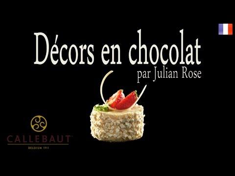 Décors en chocolat - Julian Rose (français)