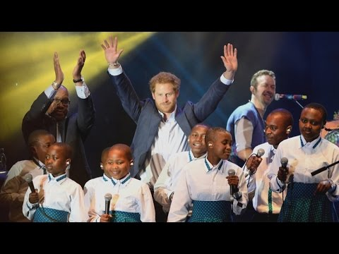 Prince Harry Joins Coldplay On Stage At Sentebale Concert