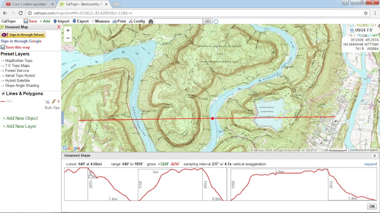 Download topographic maps from caltopo - YouTube on