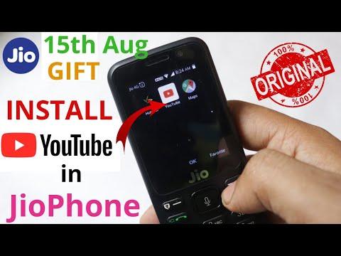jio phone youtube install