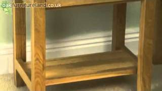 Chaucer Solid Oak Bedside Table From Oak Furniture Land
