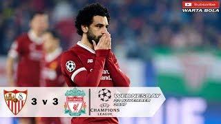 Sevilla vs Liverpool 3-3 UCL - All Goals & Highlights 22-11-2017