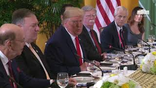 President Trump Participates in a Working Breakfast with the Crown Prince of Saudi Arabia
