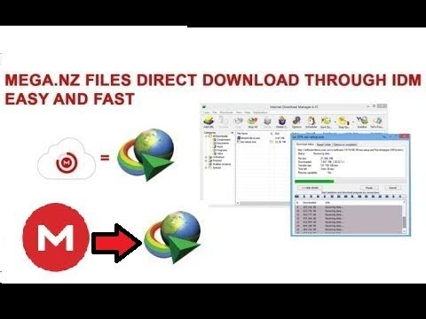 how to download from mega using idm