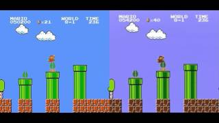 Older/Old Super Mario Bros. Record Comparison