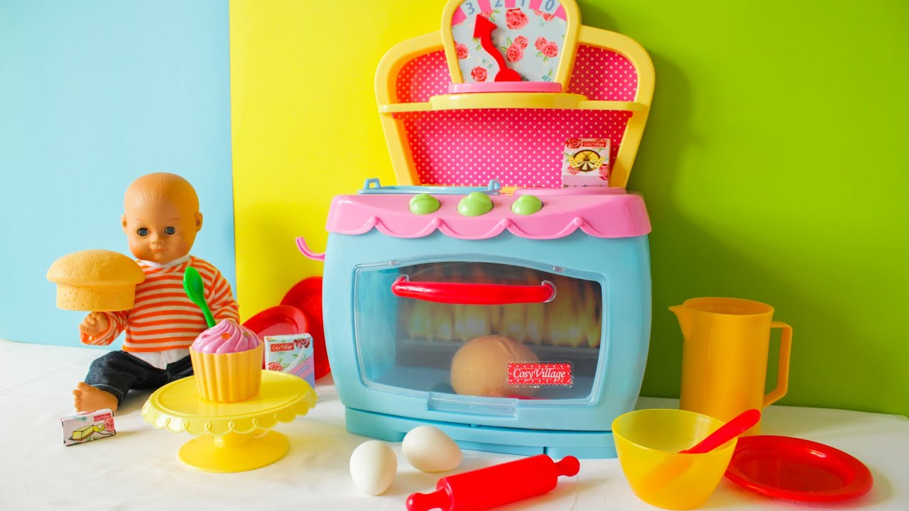 Toy Baking Oven for Toddlers and Kids Cooking Toy Muffin, Cupcake and Bun with Sounds 2016