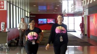 Virgin America LAX Uptown Funk/Dirty Work Dance Video