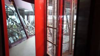 Eiffel Tower Elevator Ride Going Up to Second Floor 2014