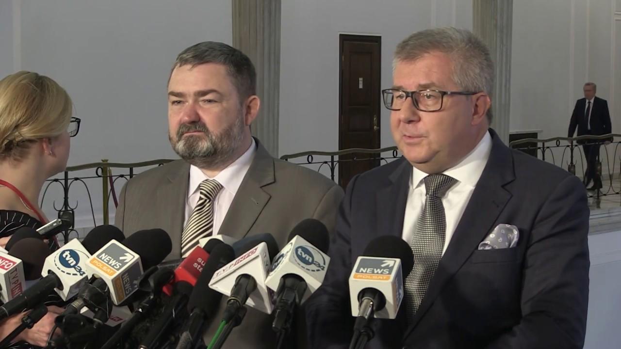 Ryszard Czarnecki, Karol Karski – Konferencja prasowa Europosłów PiS w Sejmie