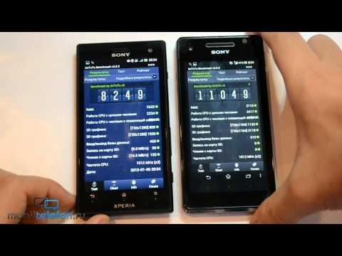 Sony Xperia V (TX) vs Xperia Acro S (S, Ion, SL): сравнение скорости