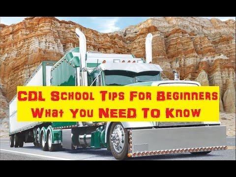 CDL Truck Driving School Tips For Beginner Commercial Truck Driving